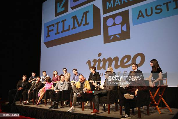 Filmmaker Daniel Kaminsky actors Joshua Zar Emma Bates Nick Kocher Brian McElhaney Spencer Treat Clark Ashley Johnson Tom Lenk and Jillian Morgese...