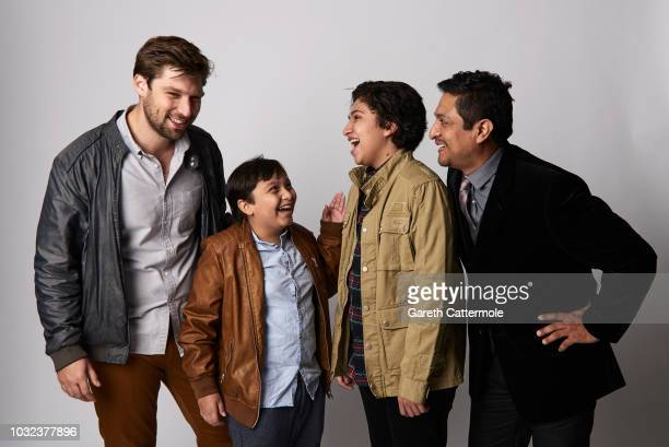 Filmmaker Daniel Sawka actors Matthew Moreno Anthony Gonzalez and Omar Leyva from the film 'Icebox' pose for a portrait during the 2018 Toronto...