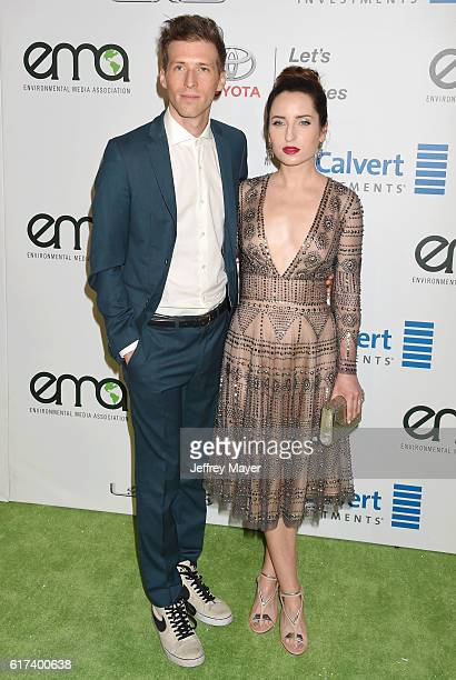 Filmmaker Daryl Wein and actress Zoe ListerJones arrive at the 26th Annual EMA Awards at Warner Bros Studios on October 22 2016 in Burbank California