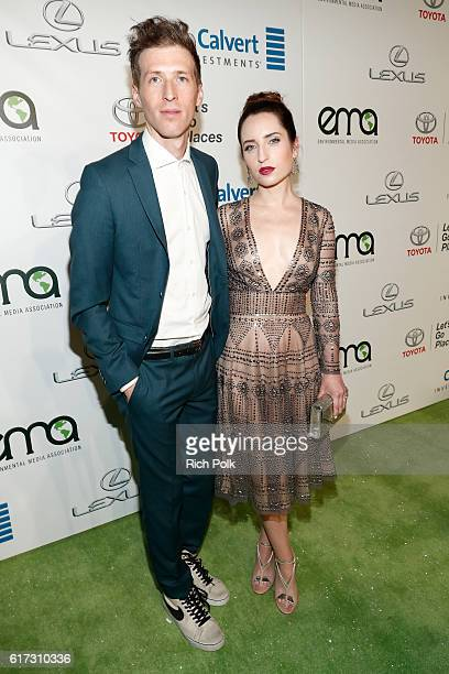 Filmmaker Daryl Wein and actress Zoe ListerJones attend the Environmental Media Association 26th Annual EMA Awards Presented By Toyota Lexus And...