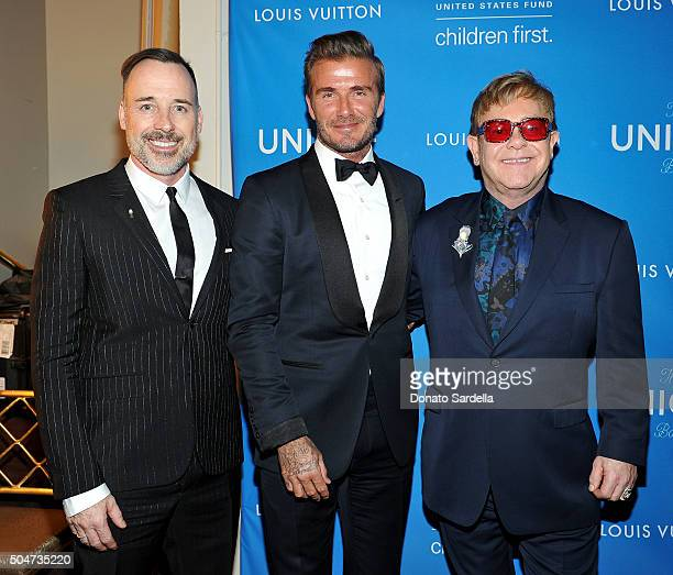Filmmaker David Furnish UNICEF GWA Honoree David Beckham and Recording artist Elton John attend the Sixth Biennial UNICEF Ball Honoring David Beckham...