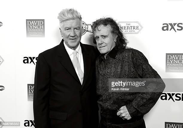 Filmmaker David Lynch and musician Donovan attend the David Lynch Foundation's DLF Live presents The Music Of David Lynch at The Theatre at Ace Hotel...