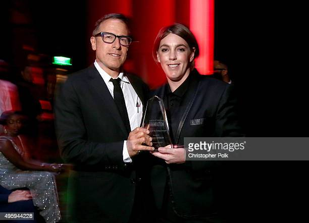 Filmmaker David O Russell and honoree Megan Ellison attend the Screen Actors Guild Foundation 30th Anniversary Celebration at Wallis Annenberg Center...