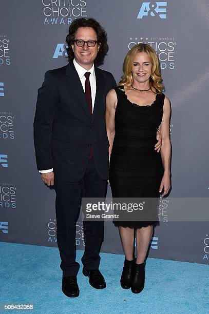 Filmmaker Davis Guggenheim and actress Elisabeth Shue attend the 21st Annual Critics' Choice Awards at Barker Hangar on January 17 2016 in Santa...