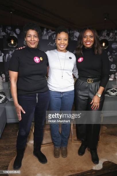 Filmmaker Dawn Porter Director/Screenwriter of 'A Long Walk' Chinonye Chukwu and Director of Public Engagement PPFA Alencia Johnson attend Our Bodies...