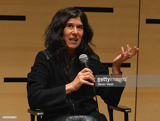Filmmaker Debra Granik speaks at the Filmmaker In Residence panel Sustaining a Career and an Artistic Vision discussion hosted By The Film Society Of...