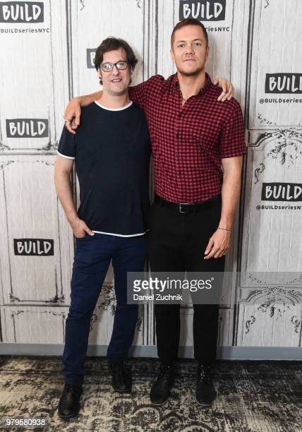 Filmmaker Don Argott and Dan Reynolds of Imagine Dragons attend the Build Series to discuss the HBO documentary 'Believer' at Build Studio on June 20...