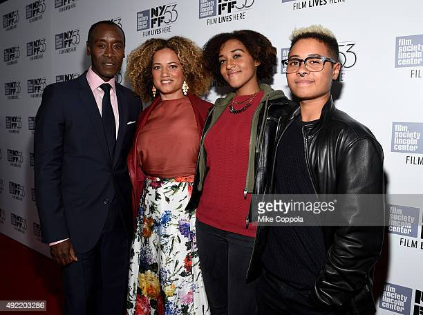 Filmmaker Don Cheadle Bridgid Coulter Imani Cheadle and Ayana Tai Cheadle attend 53rd New York Film Festival Closing Night Gala Screening of Miles...