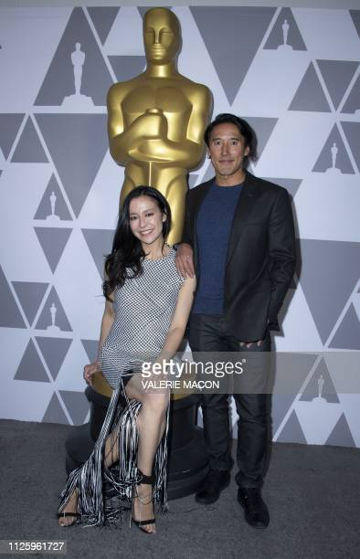 Filmmaker Elizabeth Chai Vasarhelyi and husband filmmaker/climber Jimmy Chin attend the 91st Annual Academy Awards Oscar week reception featuring the...