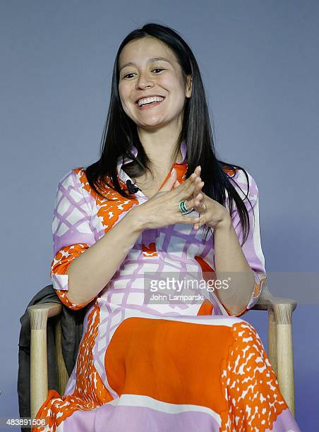 Filmmaker Elizabeth Chai Vasarhelyi attends Meru discussion at the Apple Store Soho on August 13 2015 in New York City