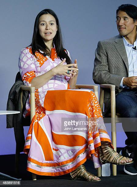 "Filmmaker Elizabeth Chai Vasarhelyi attends ""Meru"" discussion at the Apple Store Soho on August 13, 2015 in New York City."