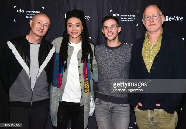 Filmmaker Fenton Bailey actor Amber Whittington figure skater Adam Rippon and filmmaker Randy Barbato attend the Los Angeles special screening of...