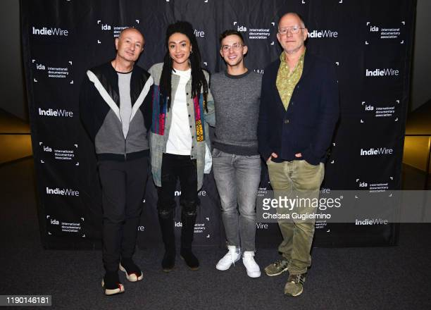 Filmmaker Fenton Bailey, actor Amber Whittington, figure skater Adam Rippon and filmmaker Randy Barbato attend the Los Angeles special screening of...