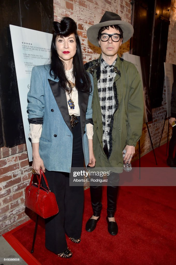 Filmmaker Floria Sigismondi (L) and musician Lillian Berlin at the Flux and Cinefamily Hosted Premiere of IFC Films' PERSONAL SHOPPER at The Carondelet House on March 7, 2017 in Los Angeles, California.