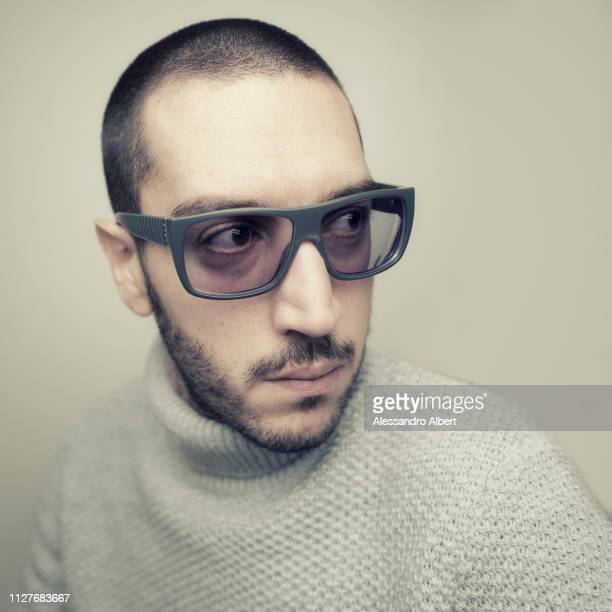 Filmmaker Francesco Barozzi poses for a portrait Turin Film Festival on November 2018 in Turin Italy