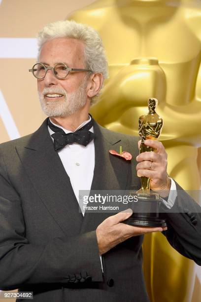 Filmmaker Frank Stiefel winner of the Best Documentary – Short Subject award for 'Heaven Is a Traffic Jam on the 405' poses in the press room during...