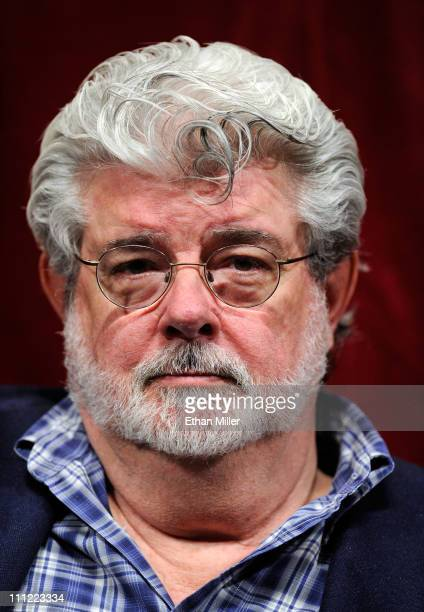 Filmmaker George Lucas attends a digital filmmakers forum at Caesars Palace during CinemaCon the official convention of the National Association of...