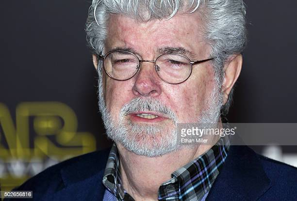 Filmmaker George Lucas attends the premiere of Walt Disney Pictures and Lucasfilm's 'Star Wars The Force Awakens' at the Dolby Theatre on December 14...