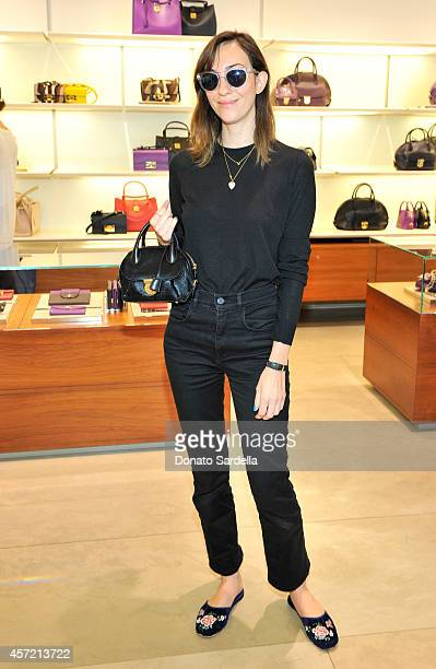 Filmmaker Gia Coppola attends Ferragamo Shopping Event with Jacqui Getty benefitting Baby2Baby at the Ferragamo Boutique on October 14 2014 in...