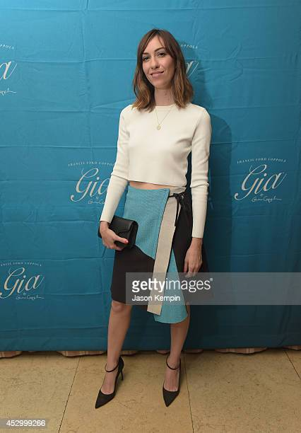 Filmmaker Gia Coppola attends the Francis Ford Coppola Winery's 'Gia By Gia Coppola' Wine Launch Celebration at Sunset Tower Hotel on July 31 2014 in...
