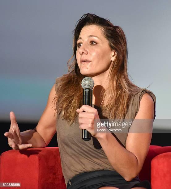 Filmmaker Gillian Barnes speaks onstage at Arclight's Women In Entertainment 2016 Summit at ArcLight Cinemas Cinerama Dome on November 10, 2016 in...