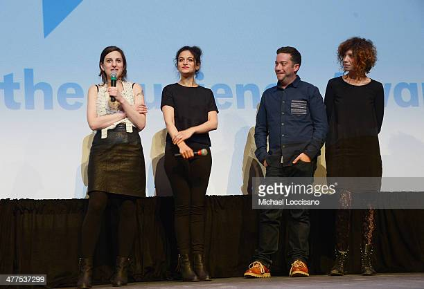 Filmmaker Gillian Robespierre comedians/actors Jenny Slate and Gabe Liedman and producer Elisabeth Holm take part in a QA following the Obvious Child...