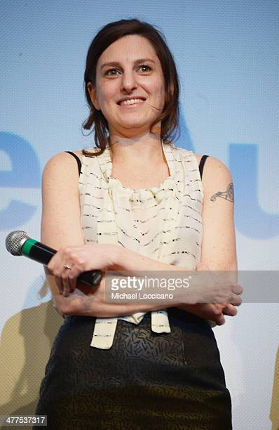 Filmmaker Gillian Robespierre takes part in a QA following the Obvious Child Premiere during the 2014 SXSW Music Film Interactive Festival at the...