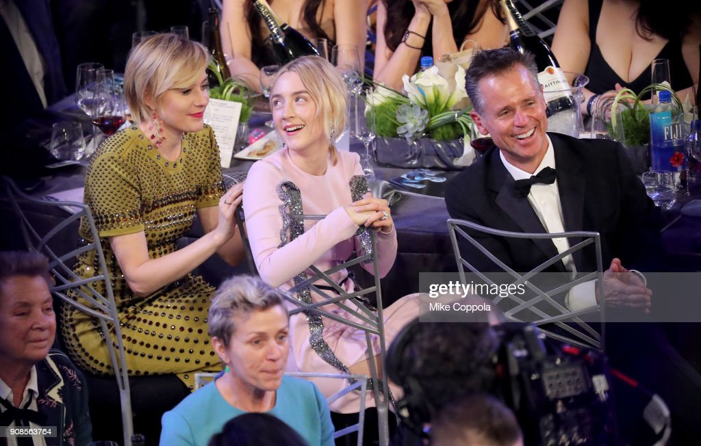 Filmmaker Greta Gerwig (L) and actor Saoirse Ronan attend the 24th Annual Screen Actors Guild Awards at The Shrine Auditorium on January 21, 2018 in Los Angeles, California. 27522_014