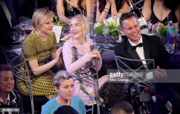 Filmmaker Greta Gerwig and actor Saoirse Ronan attend the 24th Annual Screen Actors Guild Awards at The Shrine Auditorium on January 21 2018 in Los...