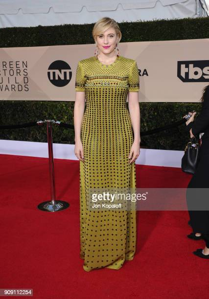 Filmmaker Greta Gerwig attends the 24th Annual Screen Actors Guild Awards at The Shrine Auditorium on January 21 2018 in Los Angeles California