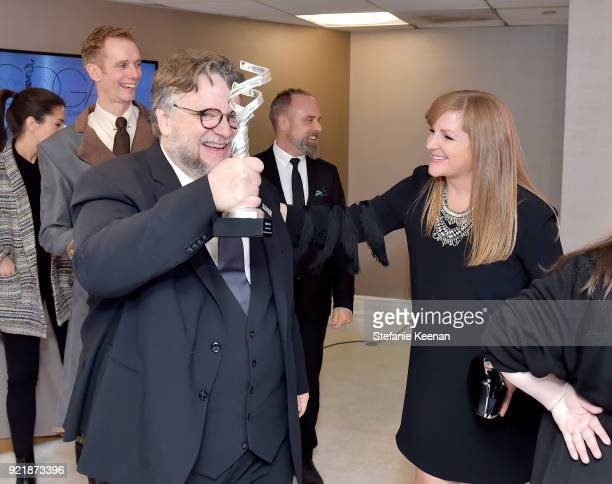 Filmmaker Guillermo del Toro and IMAX Global Chief Marketing Officer and JumpLine Group chairman JL Pomeroy attend the Costume Designers Guild Awards...