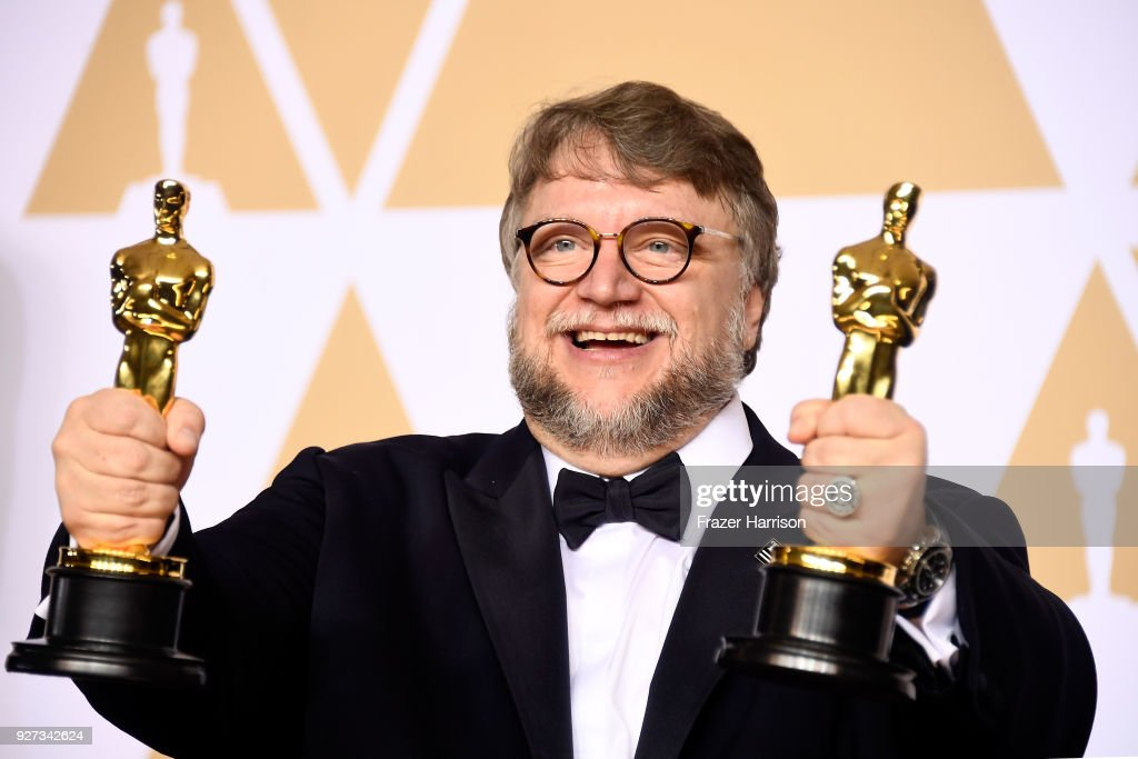 Filmmaker Guillermo del Toro, winner of the Best Director and Best Picture awards for 'The Shape of Water,' poses in the press room during the 90th Annual Academy Awards at Hollywood & Highland Center on March 4, 2018 in Hollywood, California.