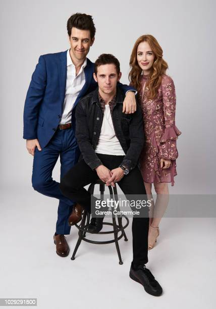 Filmmaker Guy Nattiv actor Jamie Bell and producer Jaime Ray Newman from the film 'Skin' pose for a portrait during the 2018 Toronto International...