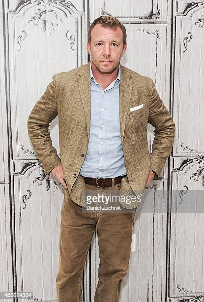 Filmmaker Guy Ritchie attends AOL Build to discuss his new film 'Man from UNCLE' at AOL Studios on August 11 2015 in New York City