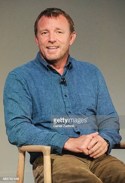 Filmmaker Guy Ritchie discusses his new film The Man From UNCLE at Apple Store Soho on August 12 2015 in New York City