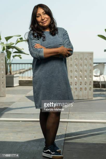 Filmmaker Haifaa al-Mansour poses for a portrait on August 31, 2019 in Venice, Italy.