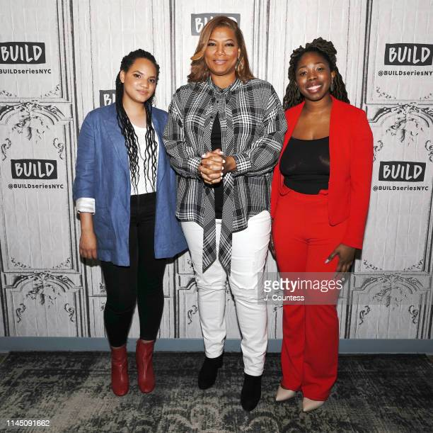 Filmmaker Haley Elizabeth Anderson, actress/rapper Queen Latifah and filmmaker B. Monet attend the Build Series to take part in the discussion of...