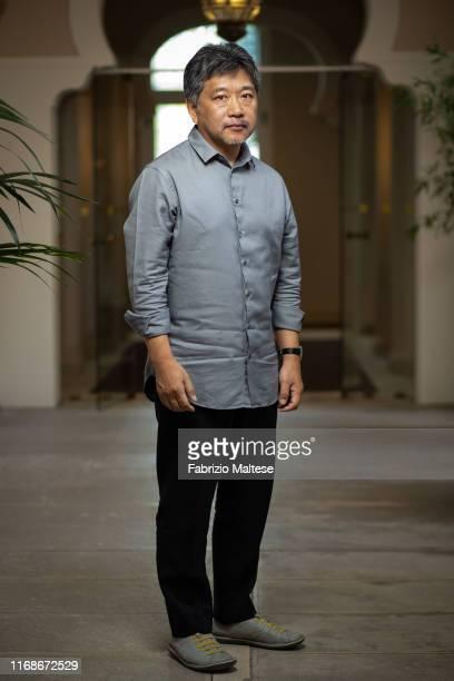 Filmmaker Hirokazu Kore-eda poses for a portrait on August 28, 2019 in Venice, Italy.