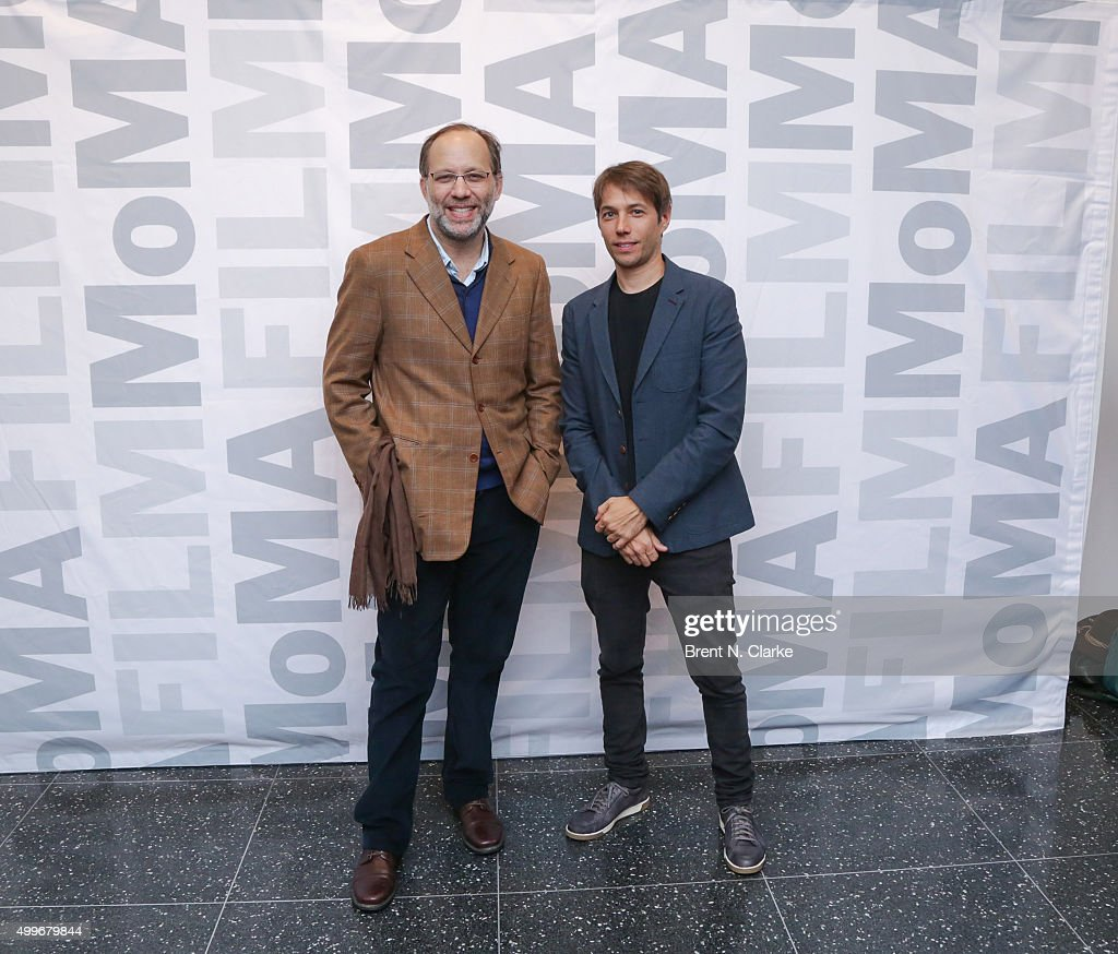Filmmaker Ira Sachs (L) and writer/director Sean Baker attend the 'Tangerine' New York special screening held at the MoMA Titus One on December 2, 2015 in New York City.