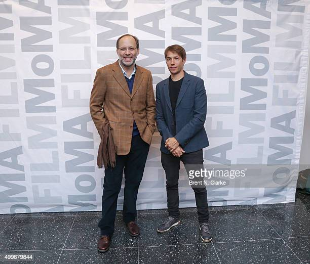 Filmmaker Ira Sachs and writer/director Sean Baker attend the Tangerine New York special screening held at the MoMA Titus One on December 2 2015 in...