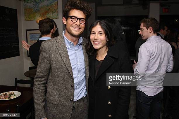 Filmmaker Jacob Soboroff and Nicole Cari attend Dewar's Band Of Outsiders Post Fall 2011 Show Dinner at Zaitzeff on February 12 2011 in New York City