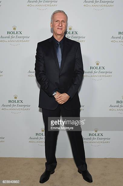 Filmmaker James Cameron attends the 2016 Rolex Awards For Enterprise at the Dolby Theatre on November 15 2016 in Hollywood California