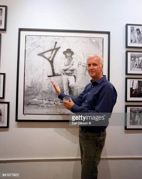 Filmmaker James Cameron attends the VIP Reception for Chris Cuffaro's New Exhibit 'Greatest Hits Martini Ranch' at Mr Musichead Gallery on August 30...