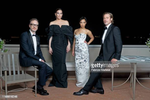 Filmmaker James Gray actors Liv Tyler Ruth Negga and Brad Pitt from the movie 'Ad Astra' pose for a portrait on August 28 2019 in Venice Italy