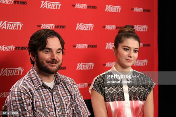 Filmmaker James Ponsoldt and actress Mary Elizabeth Winstead at the Variety Studio Presented By Moroccanoil during the Toronto International Film...
