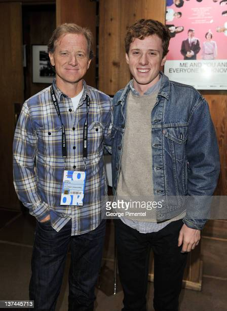 Filmmaker James Redford and Dylan Redford attend The D Word Understanding Dyslexia at the Sundance Resort during the 2012 Sundance Film Festival on...