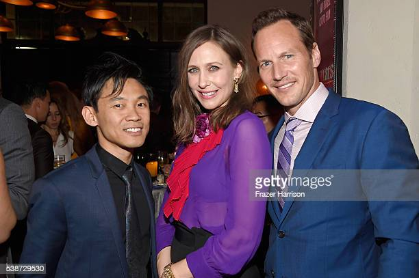 Filmmaker James Wan actress Vera Farmiga and actor Patrick Wilson attend the after party for the premiere of The Conjuring 2 during the 2016 Los...