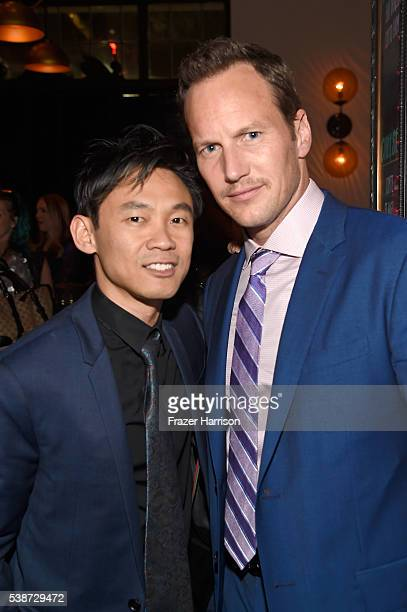 Filmmaker James Wan and actor Patrick Wilson attend the after party for the premiere of The Conjuring 2 during the 2016 Los Angeles Film Festival at...