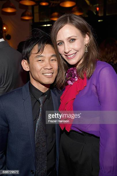 Filmmaker James Wan and actress Vera Farmiga attend the after party for the premiere of The Conjuring 2 during the 2016 Los Angeles Film Festival at...