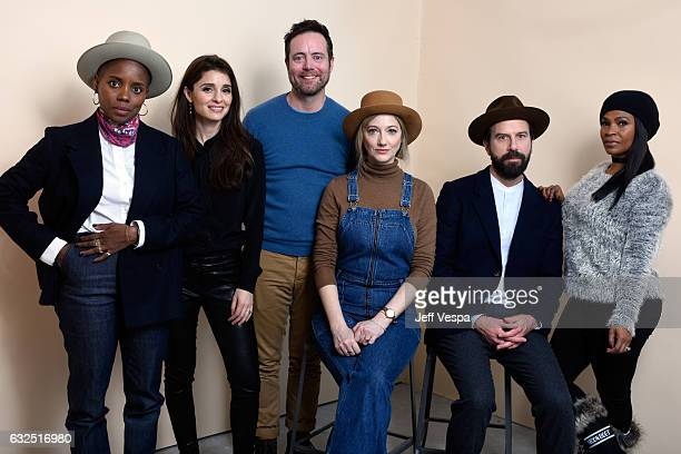 Filmmaker Janicza Bravo actors Shiri Appleby Jon Daly Judy Greer Brett Gelman and Nia Long from the film Lemon pose for a portrait in the WireImage...